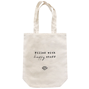 "Fashion bag canvas ""filled with happy stuff"" Off White"